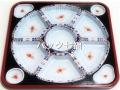 アズミ産業 TO−460有田(紺)透明蓋付 1袋10枚入 税別単価280円