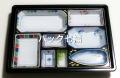 CP化成 U−79萩  W−79−B白磁中仕切付 1袋20枚入 税別単価¥250