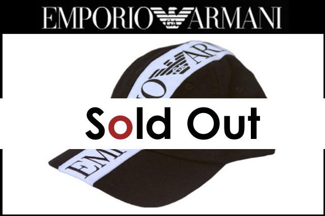 EMPORIO ARMANI(エンポリオ・アルマーニ)キャップ/ブラック[720089-5W259-00020]