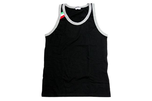 DOLCE&GABBANA(ドルチェ&ガッバーナ)タンクトップ イタリアライン ブラック[M10512-OM520-N0000]