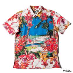 メンズ半袖アロハシャツ/パラディーゾ