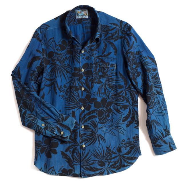 PAIKAJI BLUE パイカジアロハシャツ 藍染め