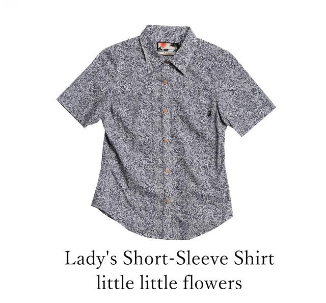 Lady's Short-Sleeve Shirt/little little flowers
