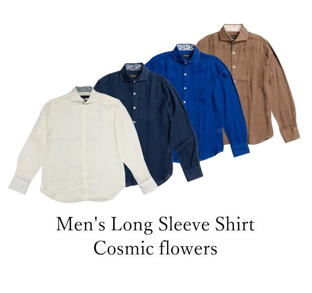 Men's Long Sleeve Shirt/Cosmic flowers