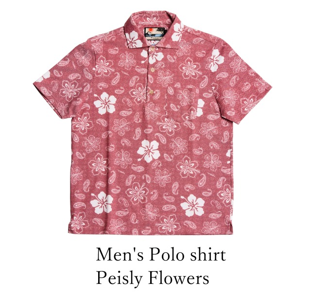 Men's Polo shirt/Peisly Flowers