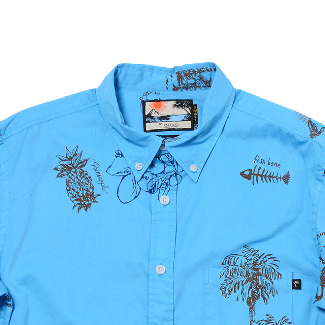 メンズ長袖ボタンダウンカラーシャツ / Venus Island