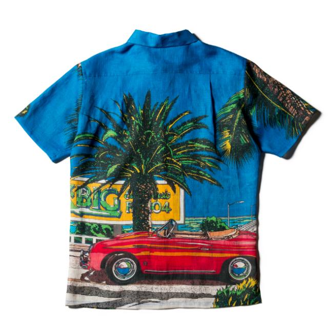 メンズ半袖アロハシャツ/南カリフォルニアの休日
