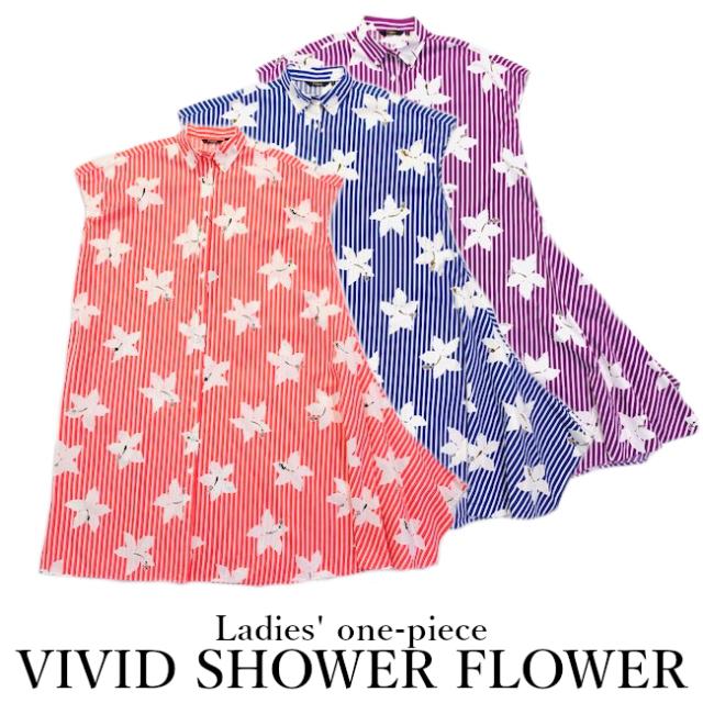 レディースワンピース/VIVID SHOWER FLOWER