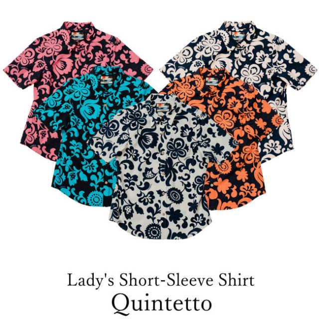Lady's Short-Sleeve Shirt/Quintetto