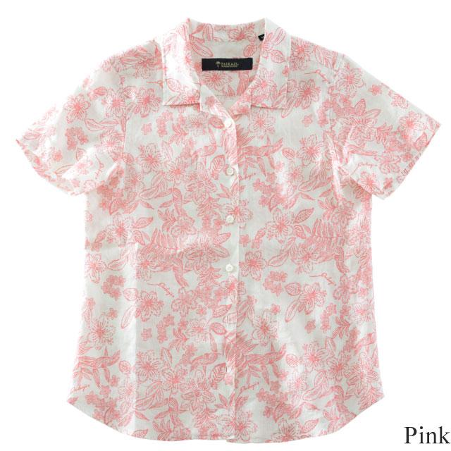 レディースアロハシャツ/retroflowers