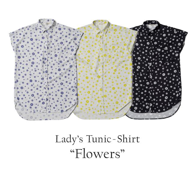 レディースチュニックシャツ/Flowers
