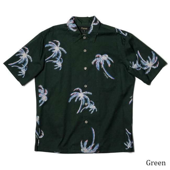 メンズ半袖アロハシャツ/Grand Palm Tree