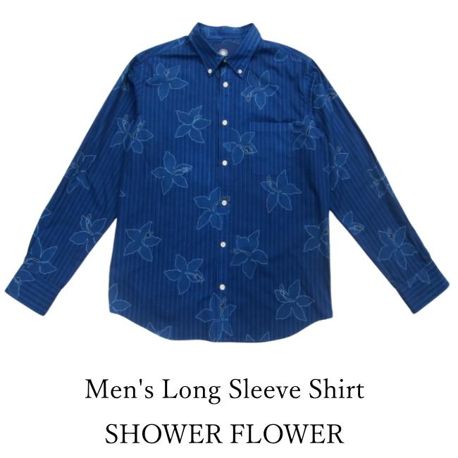 Men's Long Sleeve Shirt/SHOWER FLOWER