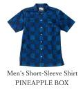 琉球藍染/Men's Short-Sleeve Shirt/PINEAPPLE BOX