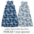 レディース オープンカラーロングワンピース/PAIKAJI ×reyn spooner