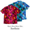 メンズ半袖アロハシャツ/Strelitzia