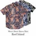 メンズ半袖アロハシャツ/Reef Island