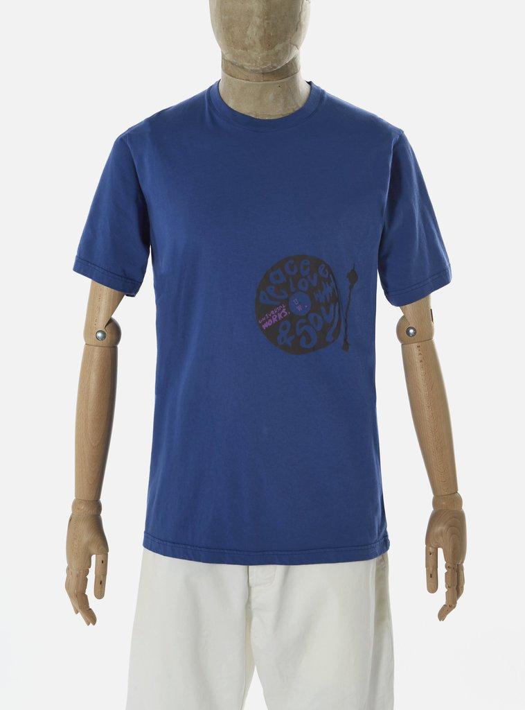 Universal Works ユニバーサルワークス Tシャツ 春夏用 ブルー