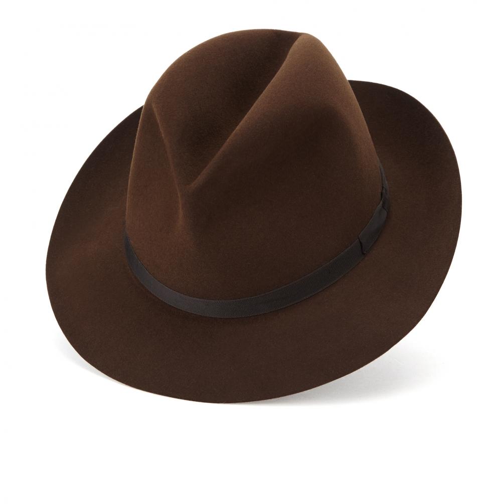 JAMES LOCK ジェームスロック フェルト ハット 帽子 ダークブラウン VOYAGER