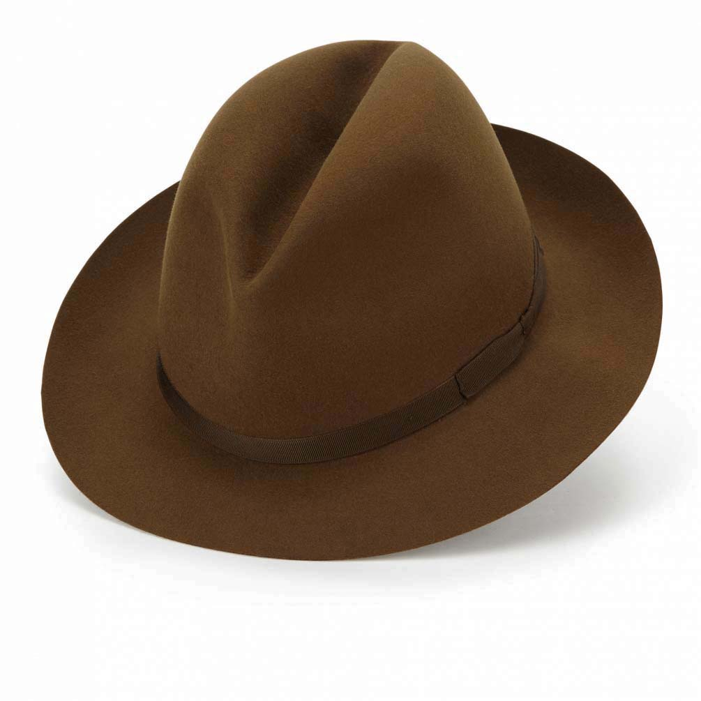 JAMES LOCK ジェームスロック フェルト ハット 帽子 ミッドブラウン VOYAGER