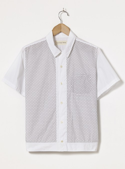 ユニバーサルワークス Universal Works Dickie Shirt In White Poplin