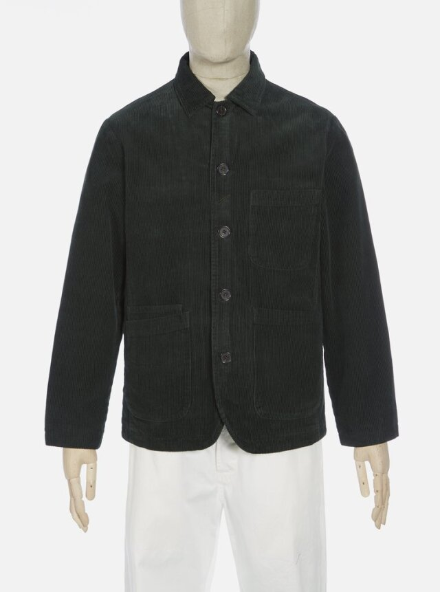 Universal Works ユニバーサルワークス Bakers Jacket In Forest Green Cord