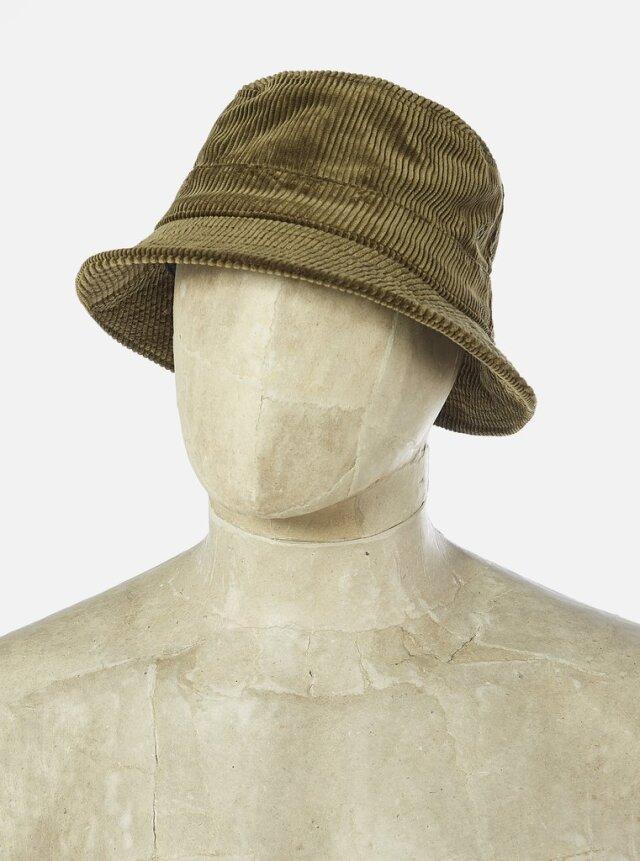 Universal Works ユニバーサルワークス Bucket Hat In Olive Brisbane Cord
