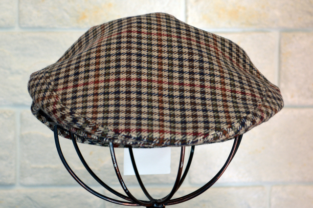 BATES FLAT CAP  HOUND STOOTH CHECK