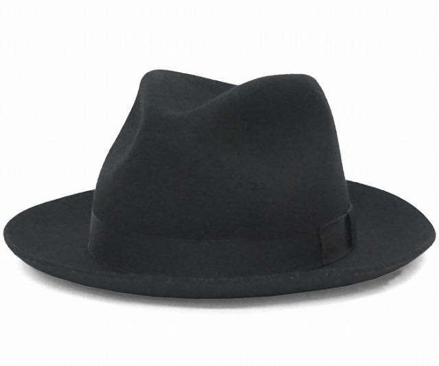 クリスティーズ ロンドン ウール フェドラハット 帽子 ブラック CHRISTYS' LONDON WOOL CHEPSTOW
