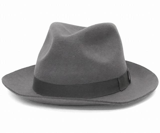 クリスティーズ ロンドン ウール フェドラハット 帽子 グレー CHRISTYS' LONDON WOOL CHEPSTOW