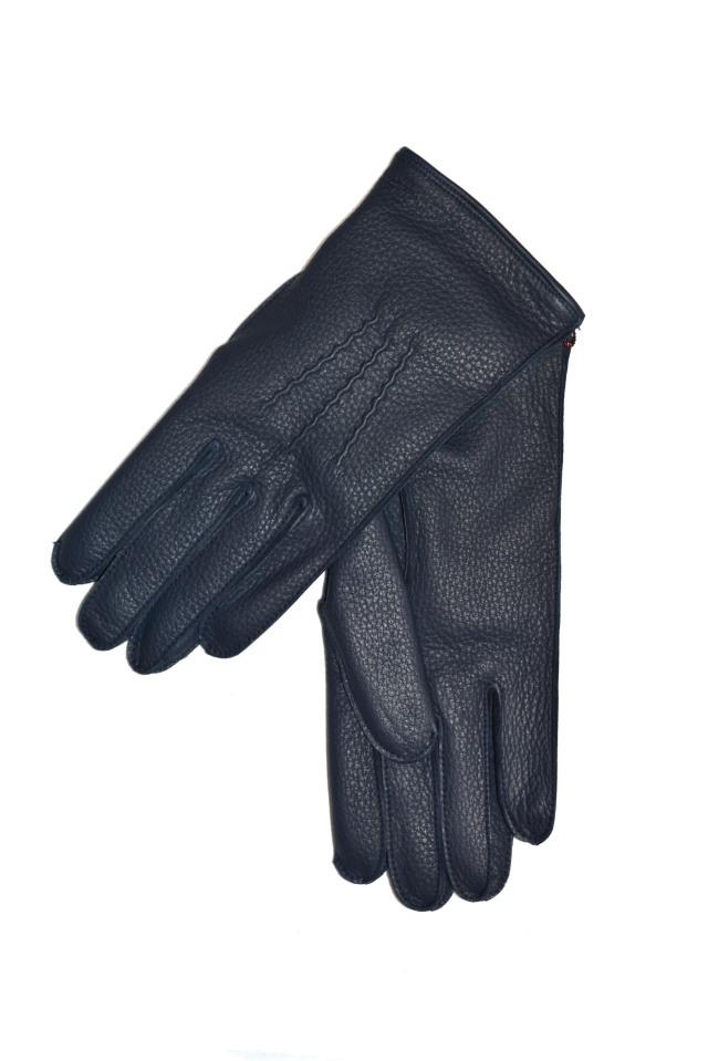 デンツ 手袋 メンズ ディアスキン ネイビー