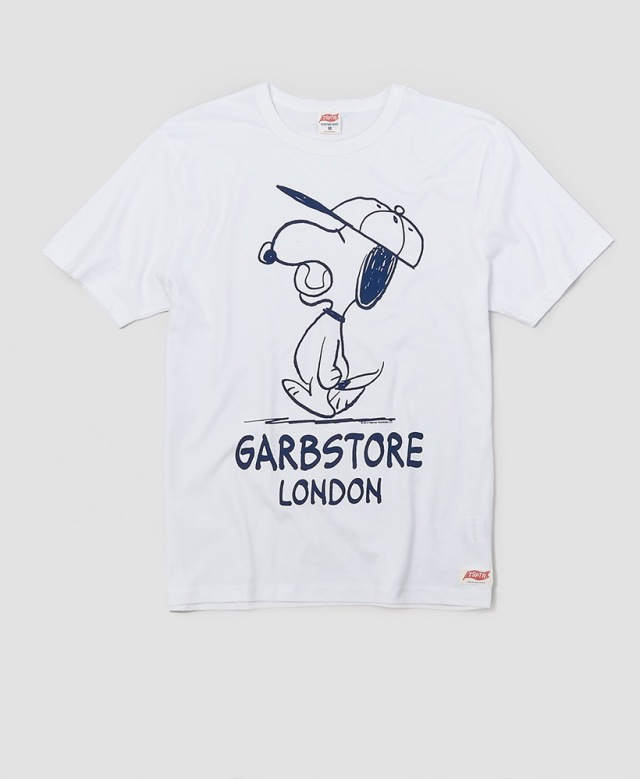GARBSTORE× TSPTR SNOOPY BASEBALL TーSHIRT WHITE
