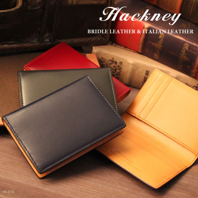 HACKNEY/ハックニー ブライドルレザー&イタリアンレザー カードケース