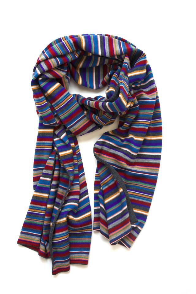 JOHN SMEDLEY OLDHAM MENS STRIPED SCARF/ ジョンスメドレー マルチカラー  スカーフ