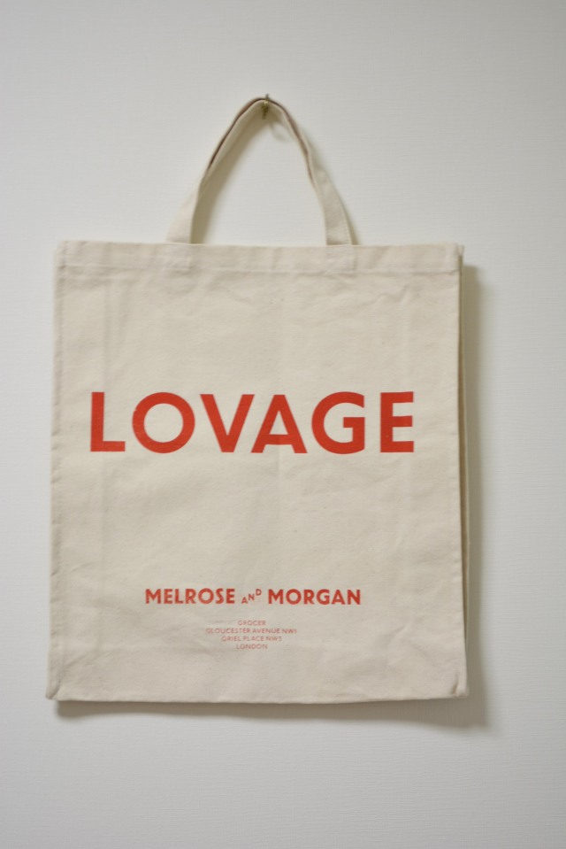 "MELROSE AND MORGAN TOTE BAG "" LOVAGE "" メルローズ アンド モーガン トートバッグ"