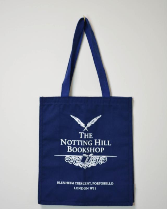 THE NOTTING HILL BOOKSHOP TOTE BAG BLUE/ノッティグヒルブックショップ トートバッグ 青