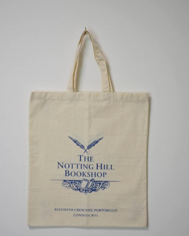 THE NOTTING HILL BOOKSHOP TOTE BAG WHITE/ノッティングヒル ブックショップ トートバッグ 白