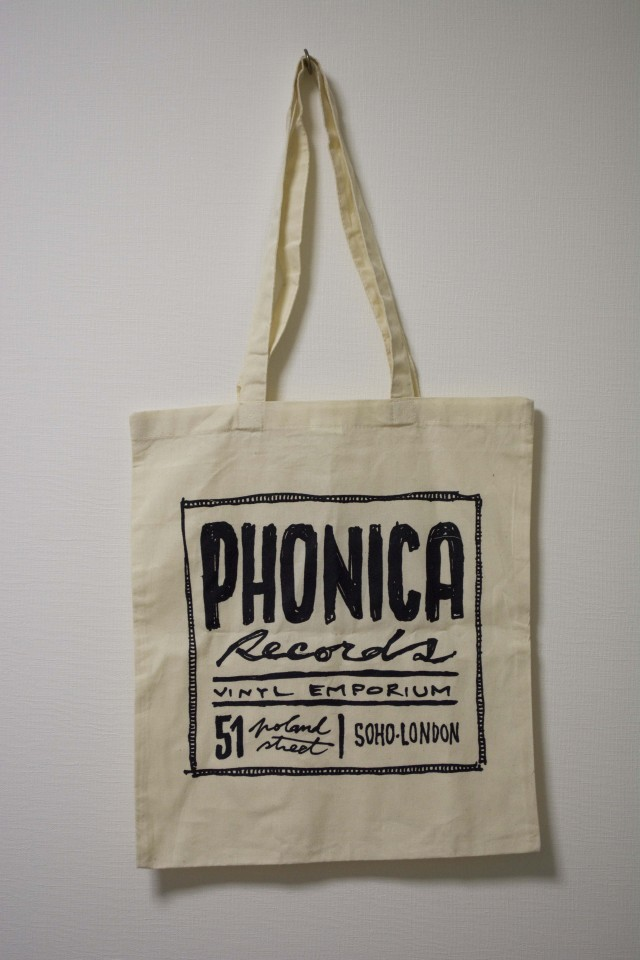 PHONICA RECORDS CANVAS TOTE BAG フォニカ レコード キャンバス トートバッグ ホワイト