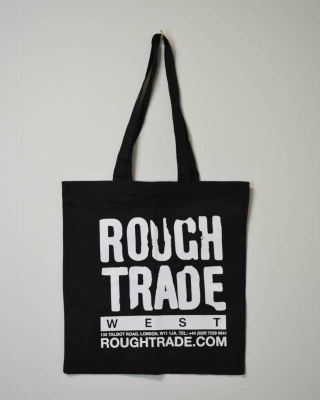 ROUGH TRADE TOTE BAG BLACK ラフトレード トートバッグ ブラック