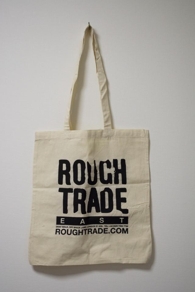 ROUGH TRADE TOTE BAG WHITE ラフトレード トートバッグ ホワイト