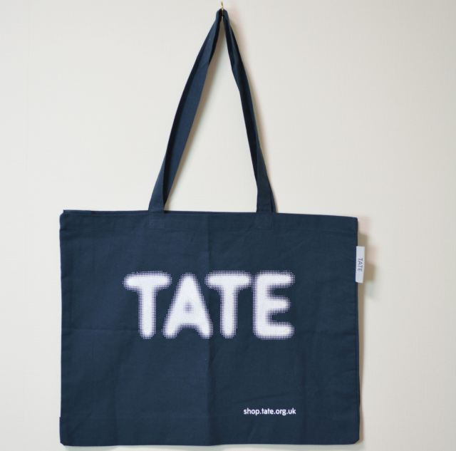 TATE TOTE BAG NAVY/テート(テイト) トートバッグ ネイビー
