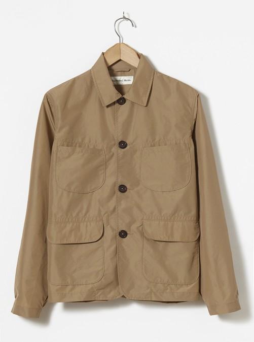 ユニバーサルワークス レイバージャケット Universal Works Labour Jacket In Camel Idra Nylon
