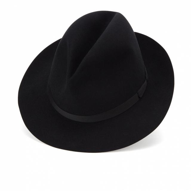 JAMES LOCK ジェームスロック フェルト ハット 帽子 ブラック VOYAGER