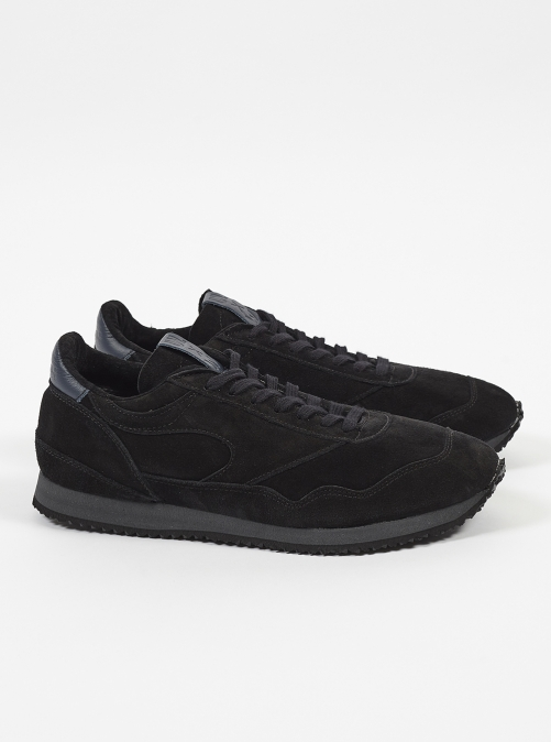 ユニバーサルワークス ウォルシュ スニーカー Universal Works X Walsh City Runner Tokyo In Black Suede