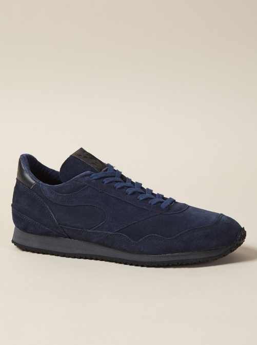 ユニバーサルワークス ウォルシュ スニーカー Universal Works X Walsh City Runner Tokyo In Navy Suede