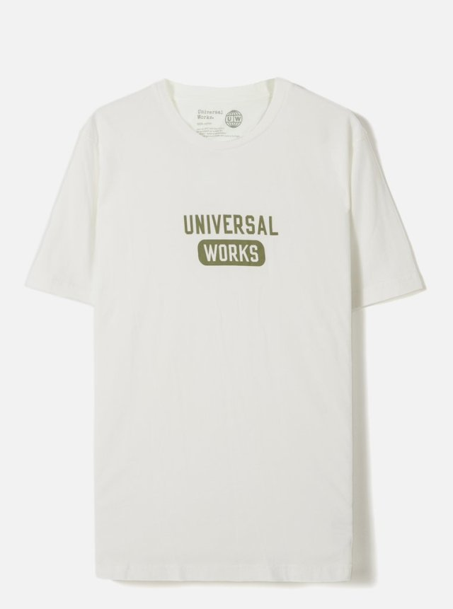 Universal Works ユニバーサルワークス Tシャツ 春夏用 エクル