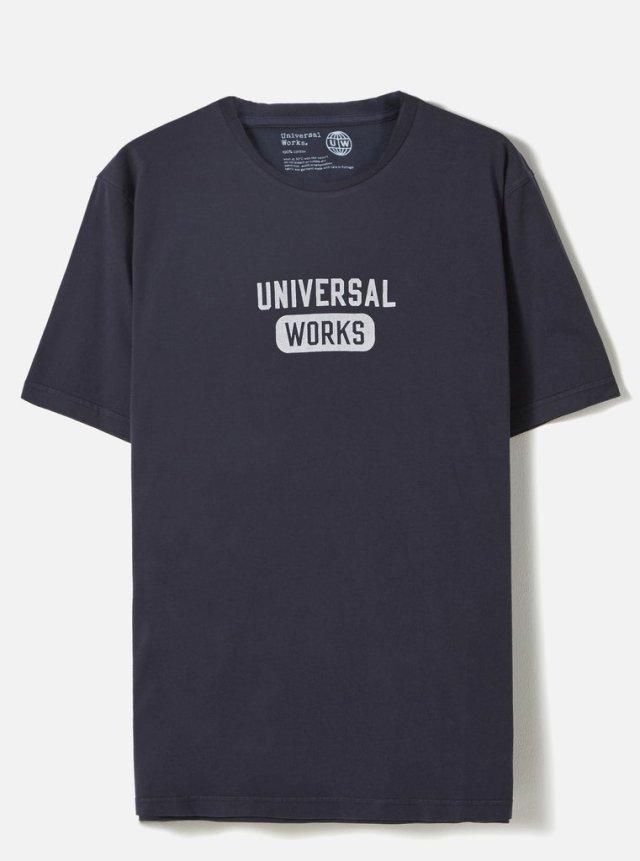 Universal Works ユニバーサルワークス Tシャツ 春夏用 ネイビー