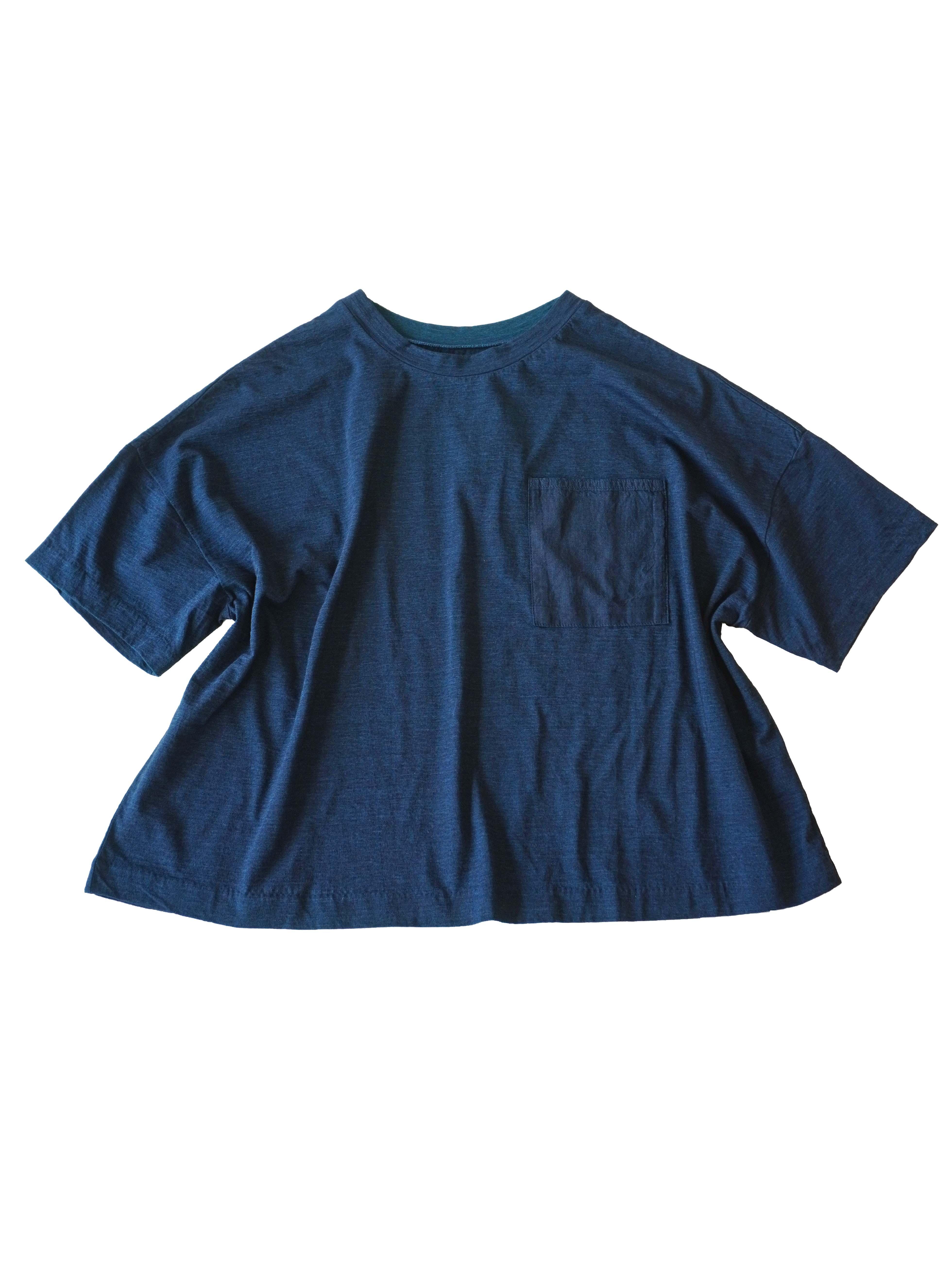 PP38.5インディゴ天竺オーバーTシャツ