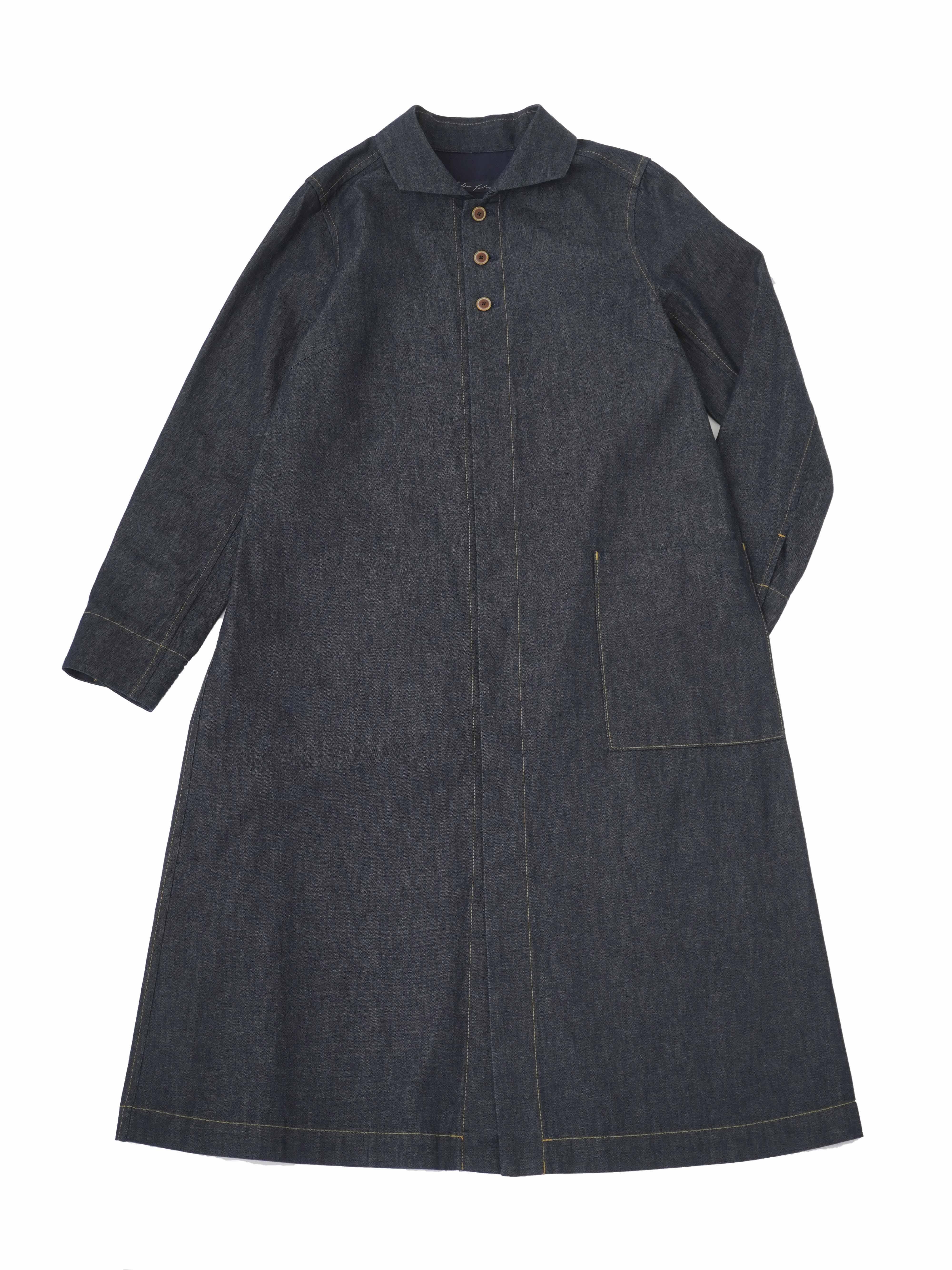 20/ムラ糸ダンガリーウィング襟コート