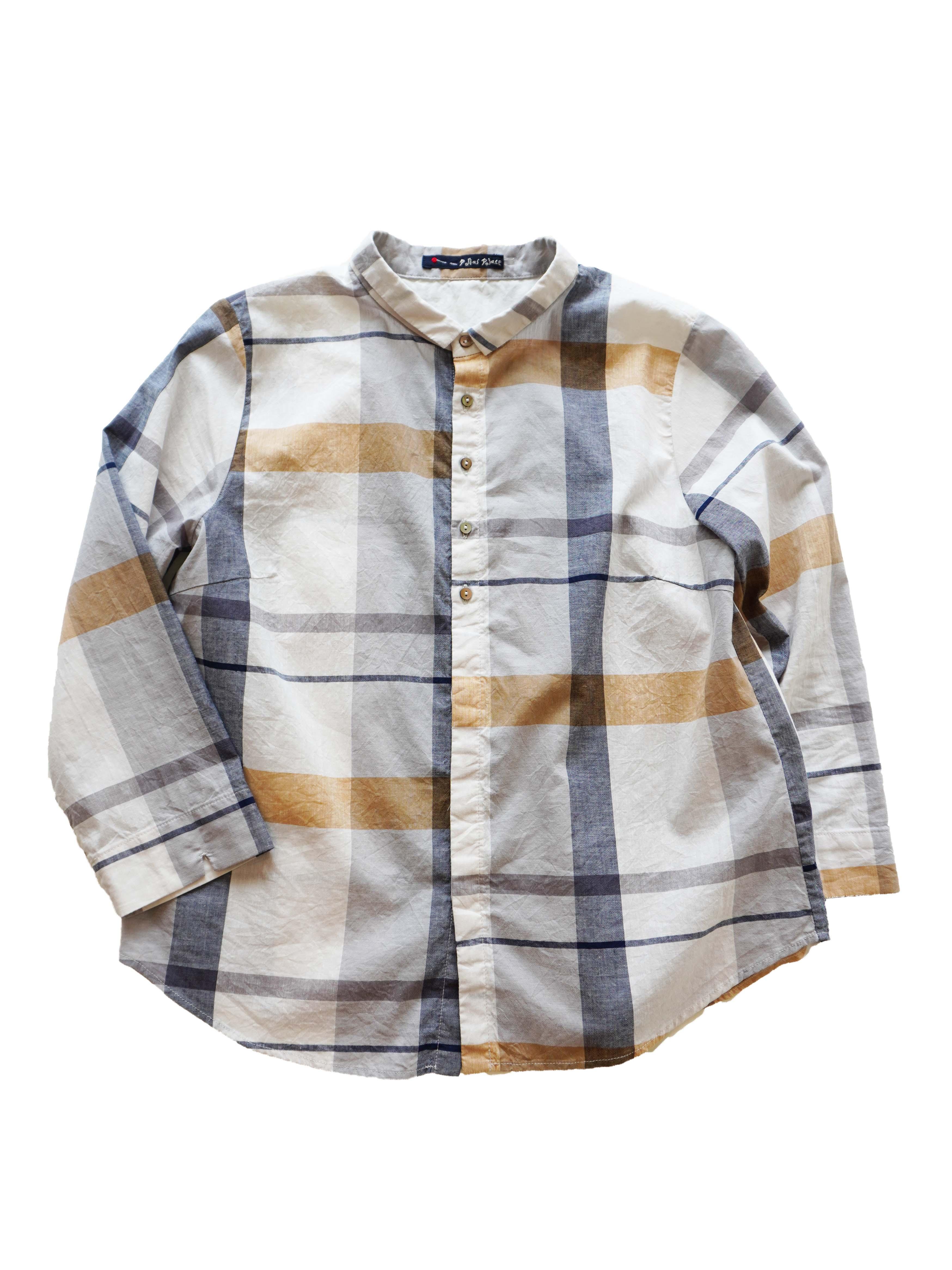 ヴィンテージチェック7分袖シャツ